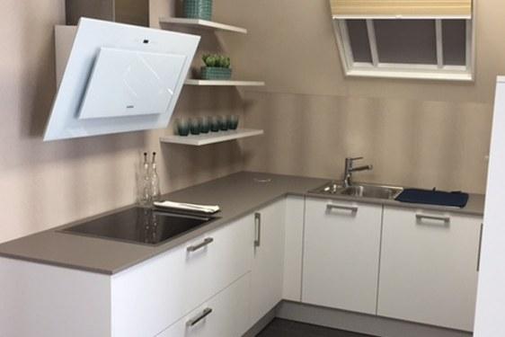 Schichtstoff Hellgrau U-Form Küche in Bad Vilbel-Dortelweil