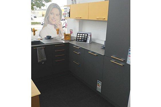 Melaminharz Lava Grau & Sonnengelb U-Form Küche in Singen