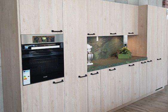Melaminharz Nordic Wood Natur Zweizeilige Küche in Stuttgart