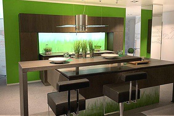 Insel-Küche Sepia Eiche mit Geräten in Germersheim