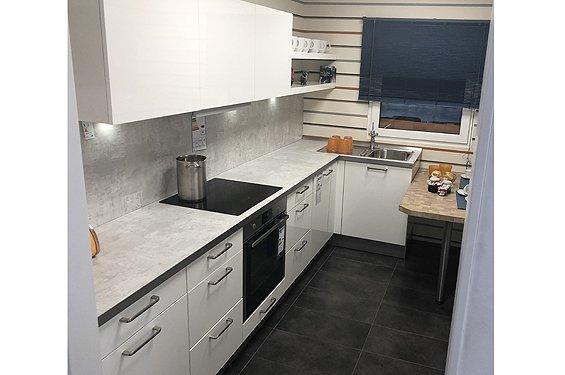 Küche L-Form weiß Aschaffenburg