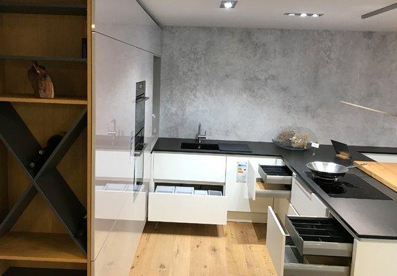 U-Küche Kaschmir-Weiß