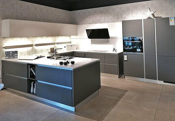 U-Küche grau in Darmstadt